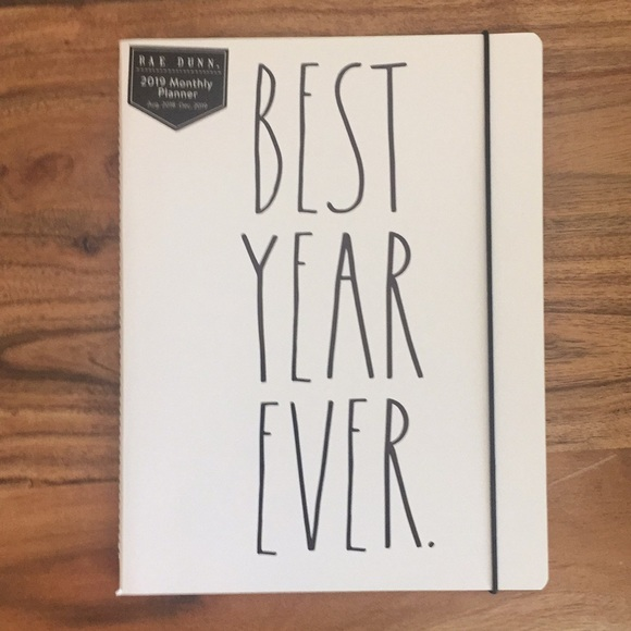 rae dunn other best year ever 2019 monthly planner poshmark